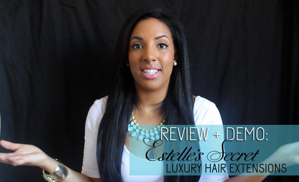 clip  hair extensions review demo estelles secret south african beauty blogger