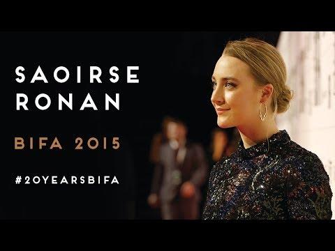 BIFA 2015 - Saoirse Ronan wins Best Actress for Brooklyn - #20YearsBIFA