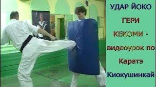 УРОКИ Каратэ Киокушинкай - Удар ЙОКО ГЕРИ КЕКОМИ урок № 10 ч.2 (YOKO GERI KEKOMY)