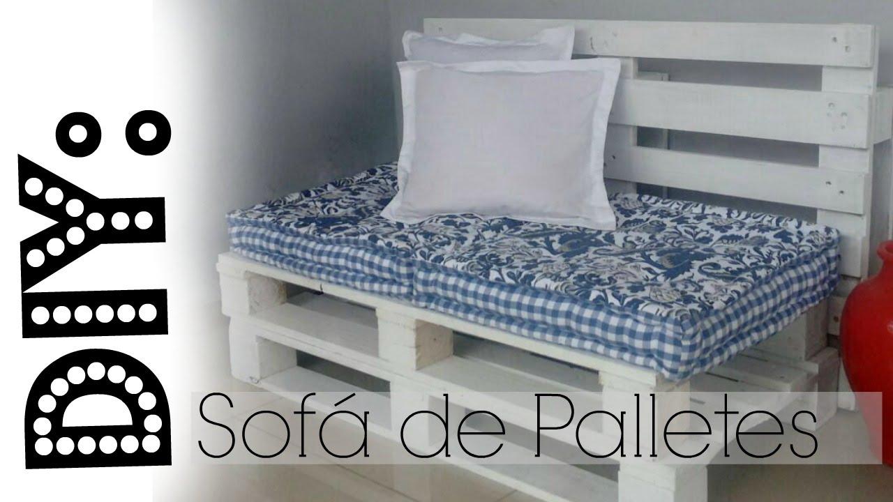 Diy 2 modelos de sof de pallets aline freitas youtube - Modelos de sofas ...