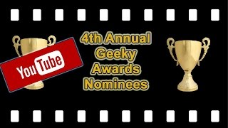 Geeky Awards OFFICIAL Nominations VOTE DOWN BELOW!!! (Announced by Kat of Comic Uno) Video