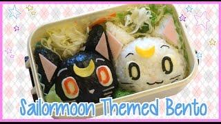 Sailormoon Themed Bento Box Luna & Artemis (ft LittlesurprisesYT)