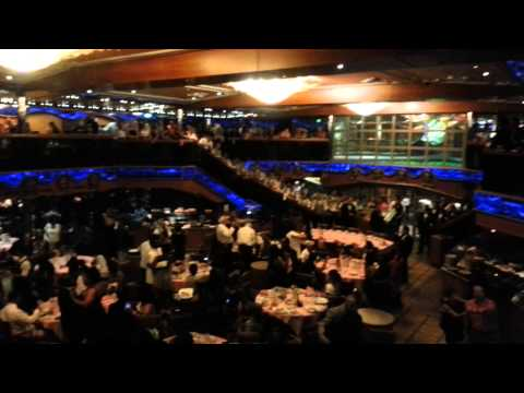 Carnival Victory August 2013 Dining Hall singing Amore