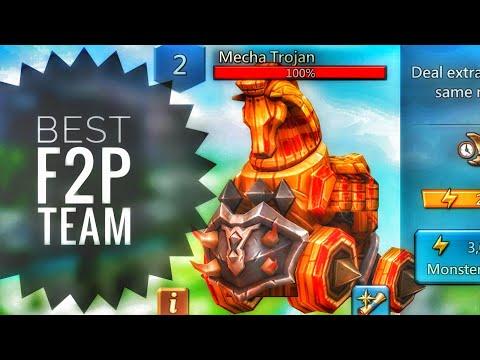 Lords Mobile - Best F2P Mecha Trojan Monster Hunting Team