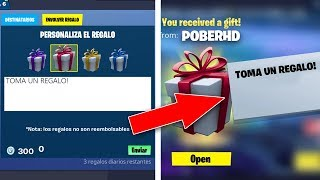 *NEW* FORTNITE GIFT SYSTEMS Get a FREE SKIN!