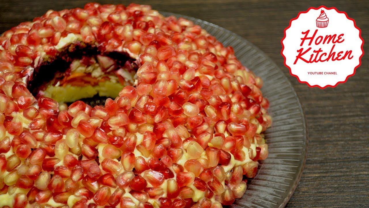 Рецепты салатов с гранатом к праздничному столу