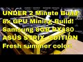 ASUS ROG RX480 8GB Samsung Cryptocurrency Mining Rig in under 2min!