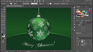 How to Draw a Christmas Ornament in Adobe Illustrator | 2