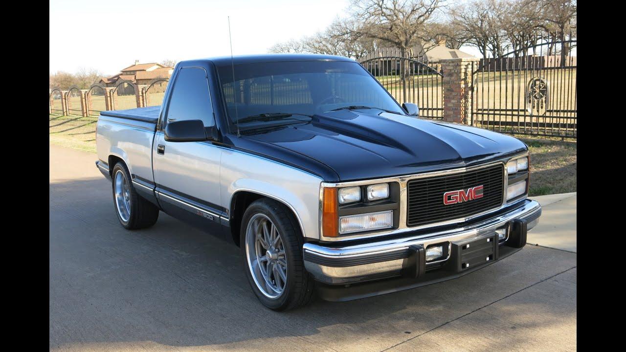 1989 Gmc Sierra Sle  V-8  Auto  A  C Super Clean  For Sale In Texas