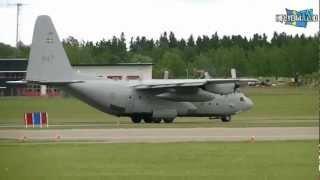 Lockheed C-130H Hercules Swedish Air Force 84007 1080p