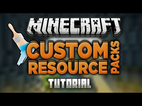 How To Make Custom Resource Packs For Minecraft! (Custom Texture Packs) (All Versions)