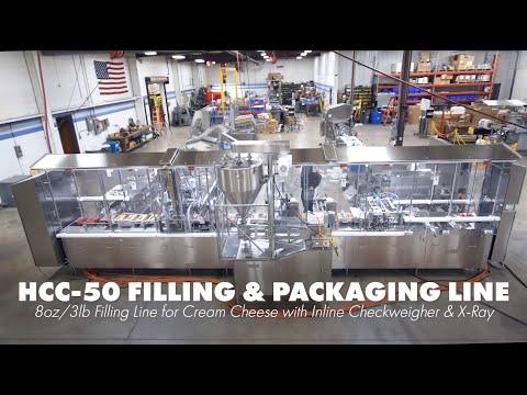 HCC 50 8oz And 3lb Filling Line - Highlights | Filling Equipment | HART Design & Manufacturing