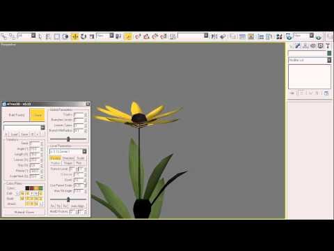 AvizStudioTools - ATree3D Flowers