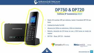Nuevos Teléfonos Inalámbricos DECT DP750 DP720 1