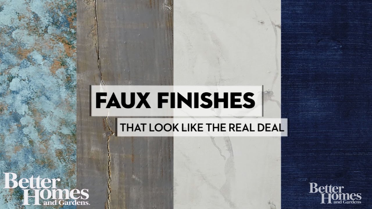 Diy Faux Finishes That Look Like The Real Deal Youtube