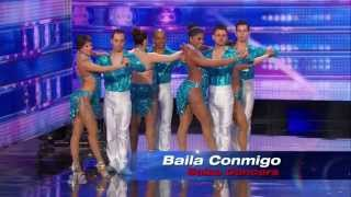 America's Got Talent S09E04 Baila Conmigo Dance Troupe performs a Fast Paced Columbian Salsa