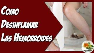 Como Desinflamar Las Hemorroides Externas e Internas Rapidamente de Forma Natural