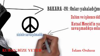 Bakara suresi 191  ayet ne anlatıyor!