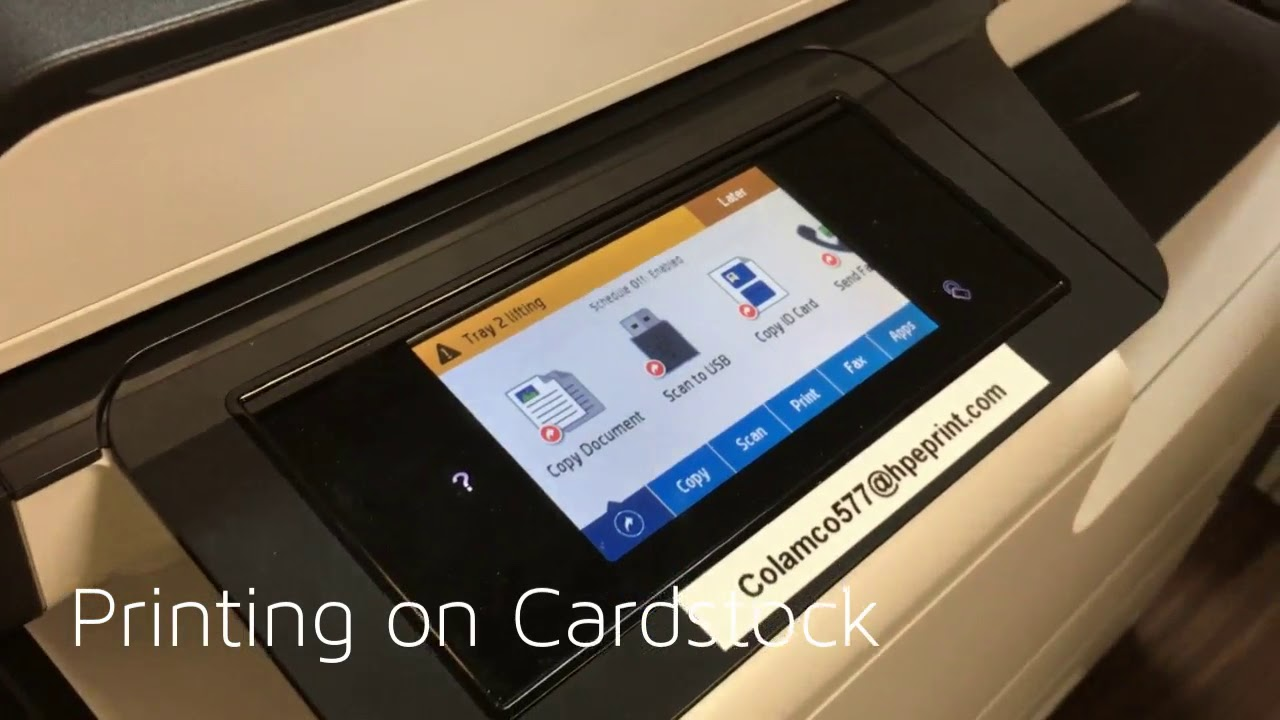 how to print on cardstock cardstock printers by colamco youtube
