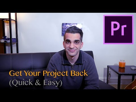 Recover Unsaved Project (Tutorial: Premiere Pro)