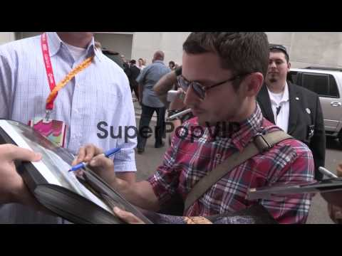 Elijah Wood and Jason Gann greet fans at Comic Con 2012 i...