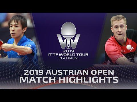 Koki Niwa Vs Mattias Falck | 2019 ITTF Austrian Open Highlights (R16)