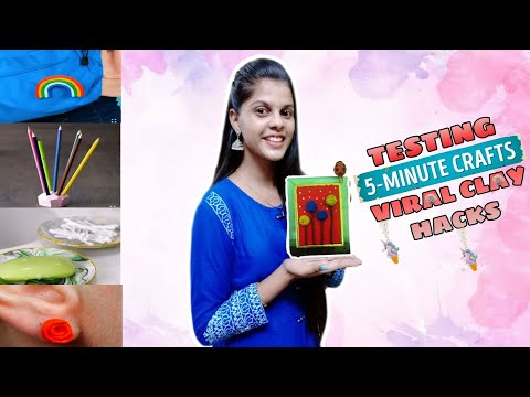 TESTING OUT VIRAL CLAY HACKS by 5 minute crafts [TAMIL]