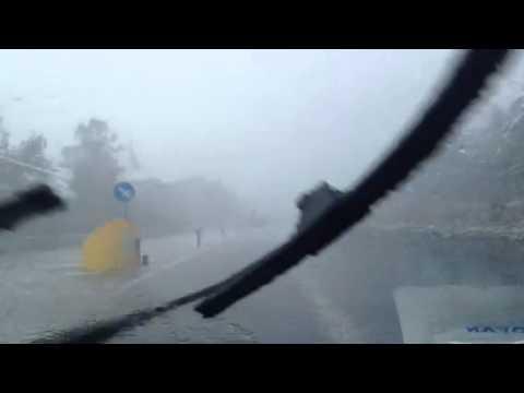 BOMBA D'ACQUA sulla GROSSETO - SIENA 14.07.2014 - AGIPRESS