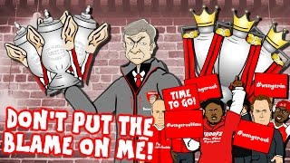 WENGER sings HUMAN! Don't Put The Blame On Him! (Wenger Out? Wenger Confronts Arsenal Fan TV)