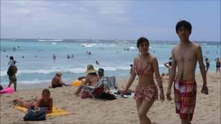 Waikiki beach sounds and sights