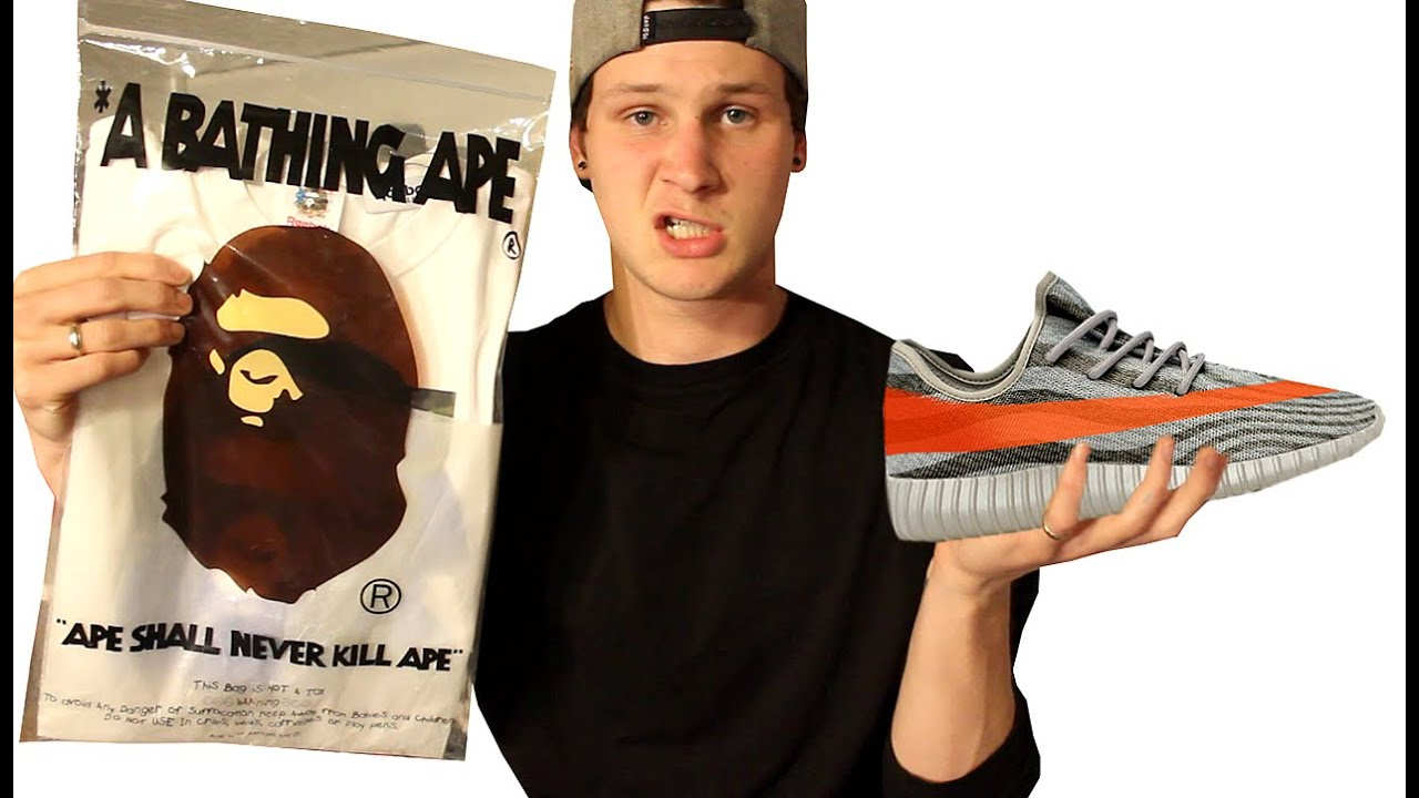 i bought yeezys and bape to look trill youtube