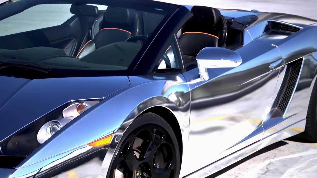 Chrome Wrapped Lamborghini Gallardo Spyder Canawrap
