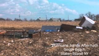 Hurricane Sandy Aftermath, South Beach, Staten Island NY