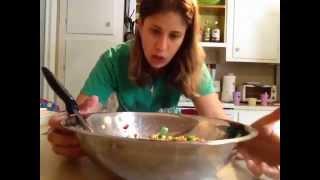 Pecan Snap Pea Corn Salad With Honey Pepper Glaze
