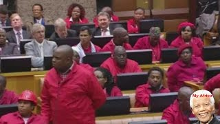 Screaming And Shouting In Parliament. EFF vs ANC and Speaker Baleka Mbete