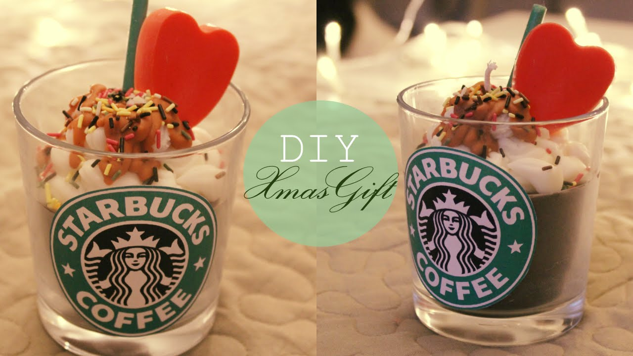 diy 2 cadeau de no l moins de 10 euros bougie starbucks. Black Bedroom Furniture Sets. Home Design Ideas