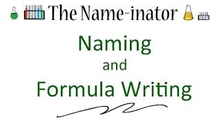 How to Name and Write the Formulas for Chemical Compounds: Introduction to The Name-inator