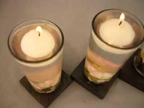 Centro de mesa con velas flotantes youtube - Centros de mesa con velas ...