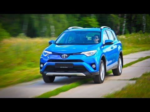 Toyota RAV4 Лосиный тест. Торможение. Крены