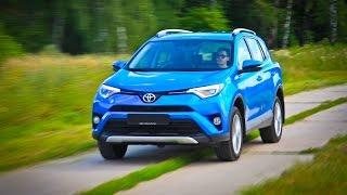 Toyota RAV4 Лосиный тест. Торможение. Крены смотреть