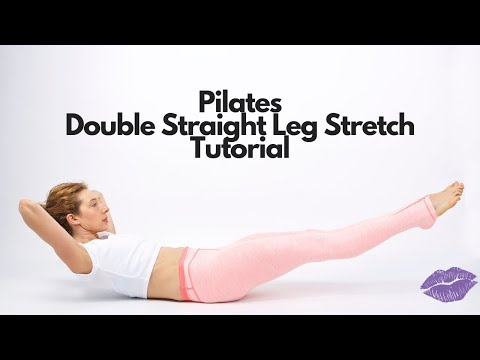Double Straight Leg Stretch on the Mat | Online Pilates Classes
