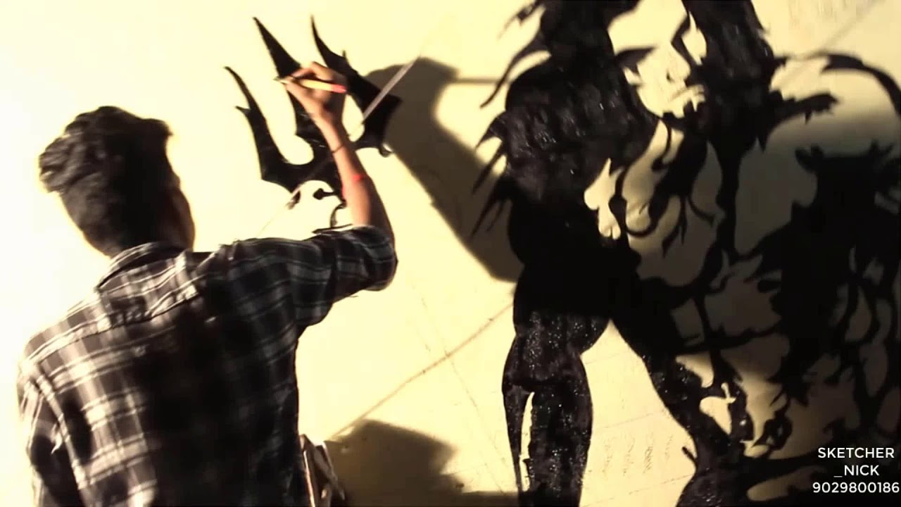 Experience the wall at night || Wall painting || Radium glow - YouTube