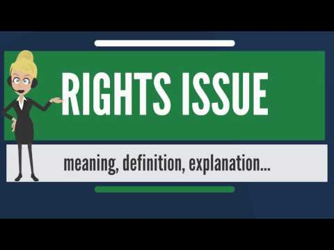 What is RIGHTS ISSUE? What does RIGHTS ISSUE mean? RIGHTS ISSUE meaning, definition & explanation