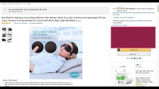 Eye Mask for Sleeping, Unimi Sleep Mask for Men Women Comfort and Lightweight 3D Eye Cover review