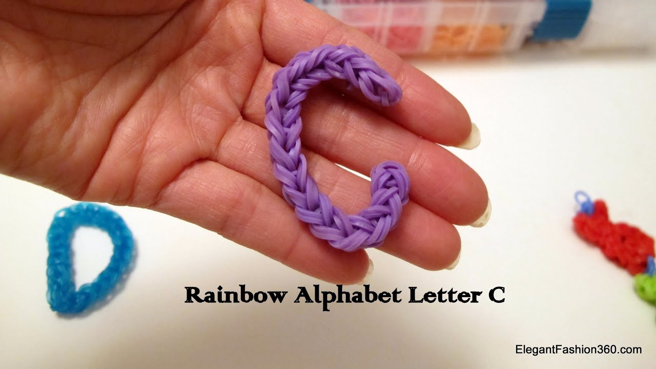 make how loom charm rainbow bands to letter pin alphabet o on