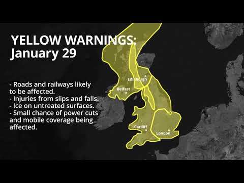 Met Office Issues Weather Warnings As Cold Spell Hits UK