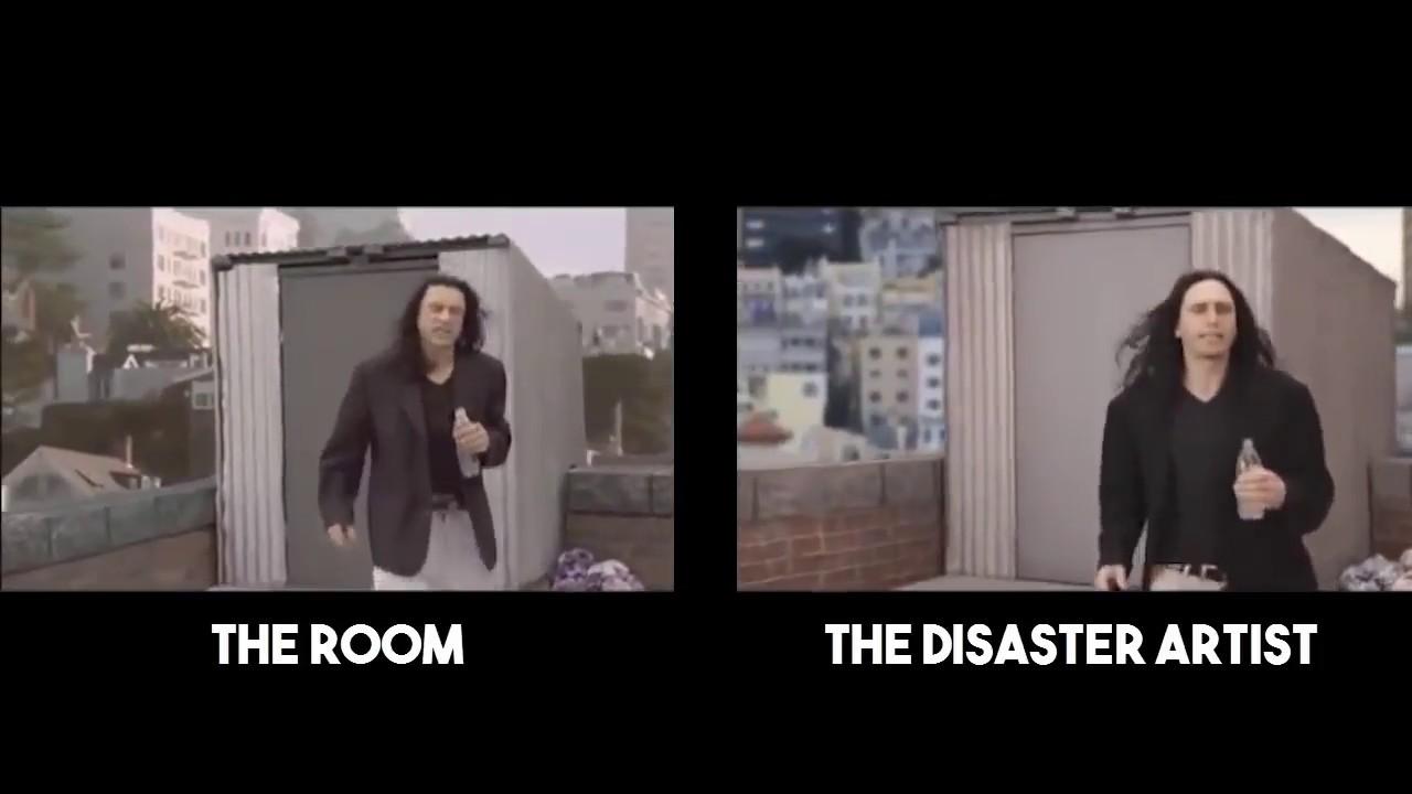 """Képtalálat a következőre: """"the disaster artist the room comparison"""""""