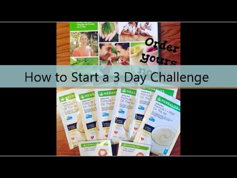 Herbalife 3 Day Challenge Instructions - YouTube