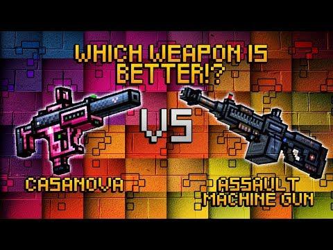 Pixel Gun 3D - Casanova VS Assault Machine Gun