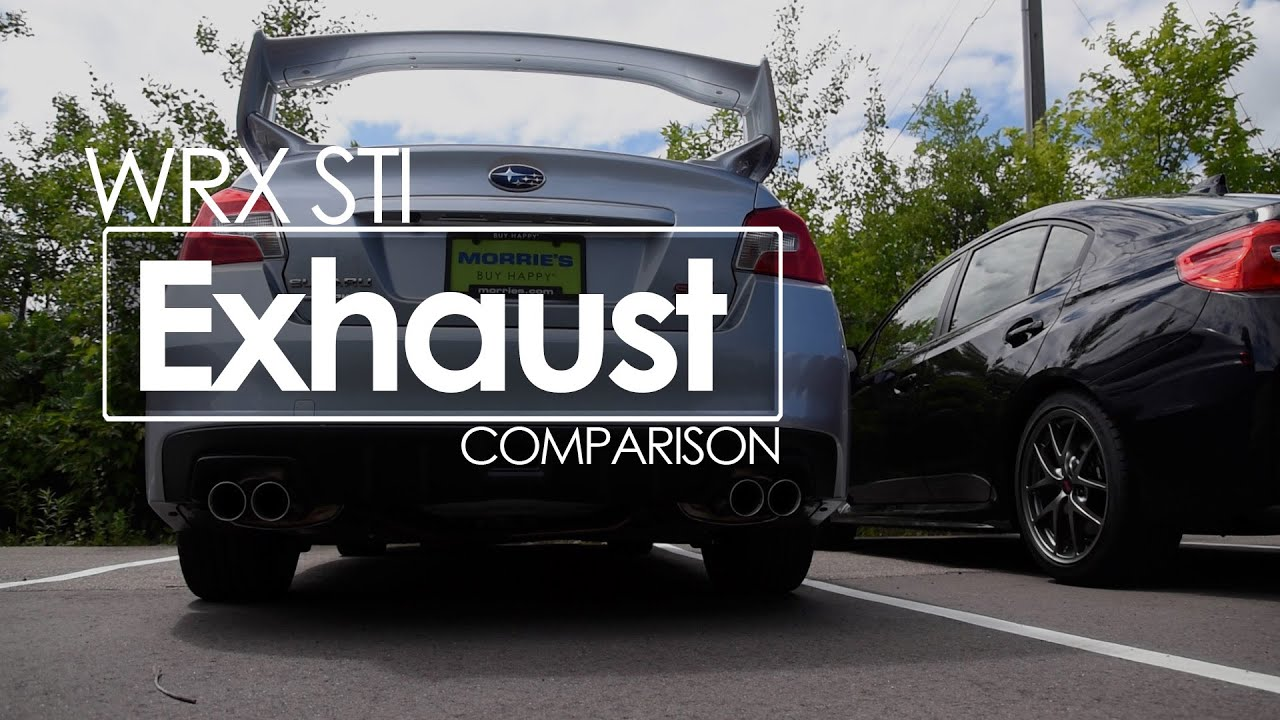 2017 Subaru Sti Exhaust Comparison Stock Vs Performance In Out Of Car You